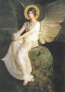 01-abbot-handerson-thayer-a-winged-figure-seated-upon-a-rock-a-study-for-the-stevenson-memorial-1903