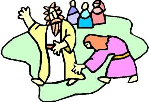 WOMEN TOUCHING JESUS' HEM