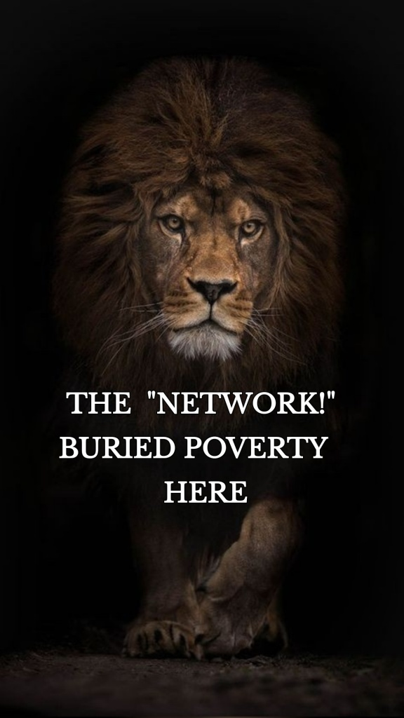 """THE """"NETWORK!"""" BURIED POVERTY HERE"""